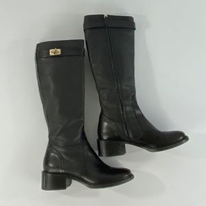 Givenchy Grained Calfskin Shark Lock Riding Boots